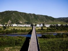 The Tumen River, a body of water that has borders in three countries: North Korea, Russia, and China.
