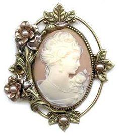 sweet romance cameo brooch