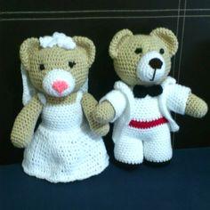 Patrón Pareja de novios oso de boda