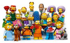 """Smithers and Groundskeeper Willie star as new Lego 'Simpsons' minifigures! The second wave of Lego """"Simpsons"""" minifigs -- including exclusives like Comic Book Guy and Professor Frink -- debut May Legos, Minifigura Lego, Lego Simpsons, Lego Minifigure Display, Lego Minifigs, Simpson Wave, Casa Lego, Figurine Lego, Comic Book Guy"""