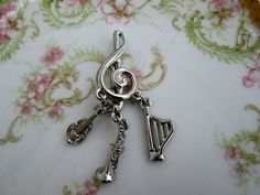 clarinet fit European jewelry windwoods music 2 Flute and music note charm set