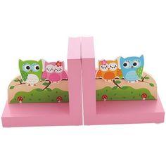 Simply for Kids - Boekensteunen uiltjes roze