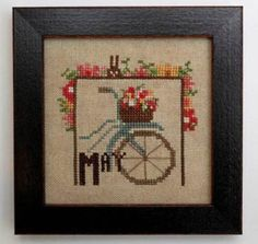 Joyful Journal May is the title of this cross stitch pattern from Heart In Hand 'Joyful Journal' monthly series.