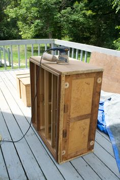 Don't let a scraped up veneer dresser scare you. Refinishing it isn't as hard as…