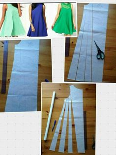Here you have 10 new Pins for your board Loose Dresses - Do it Yourself Clothes S Media Cache Originals How to sew umbrella dress Easy DIY Dress pattern Fr Sewing Dress, Dress Sewing Patterns, Diy Dress, Clothing Patterns, Fashion Sewing, Diy Fashion, Ideias Fashion, Fashion Details, Sewing Blouses