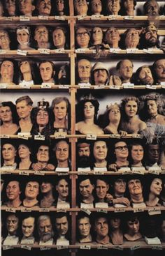Madame Tussaud's spare heads