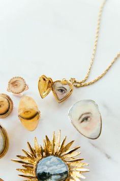Eye Necklace, Arrow Necklace, Earrings, Lovers Eyes, Custom Eyes, Eye Painting, Vintage Lockets, Locket Charms, Jewelry Accessories
