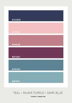 Peach Mauve Purple Navy Blue and Purple Colour Palette for Bedroom Lila Palette, Hex Color Palette, Purple Color Schemes, Bedroom Colour Palette, Color Schemes Colour Palettes, Blue Colour Palette, Bedroom Color Schemes, Bedroom Colors, Purple Teal Bedroom