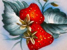 Strawberry Decorations, Fabric Painting, Pastel, Hand Painted, Fruit, Rose, Color, Youtube, Peaches