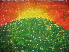 pointillism paintings with kids