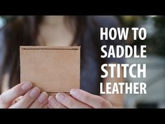 Hand sewing leather is easier than you think! I like to sew leather using a saddle stitch. It's similar to a backstitch in strength, but differs in that you put...