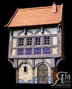 Maison médiévale n°3(Kit résine éch: 30mm)