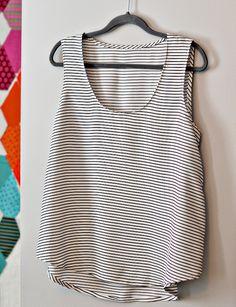 striped and drapey wiksten tank // bijou lovely
