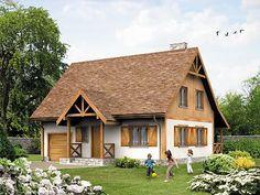 Log Cabin Homes, Cottage Homes, Cottage Style, Style At Home, Kit Homes, White Houses, House In The Woods, Home Fashion, Traditional House