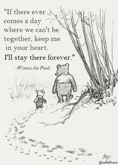 Wisdoms of the Pooh Bear: I think we dream so we don't have to be apart for so long. If we're in each other's dreams, we be together all the time. ~ Winnie the Pooh Great Quotes, Me Quotes, Short Quotes, Funny Quotes, Super Quotes, Quotes Inspirational, Eulogy Quotes, Funeral Quotes, Funeral Ideas