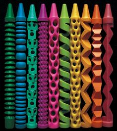 by Diem Chau.  [Image #1 of Week: Oct 14th - Oct 18th] I love these wax crayon sculptures because of the repetition of shapes in each crayon. Also the color and and the way it was carved gives this set a very active and happy feeling.