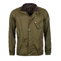 Barbour Newham Jacket in Fern- The Newham Jacket is a lightweight Barbour  with an easy-to-ride style. It features reflective strips 1ff7fe2b7