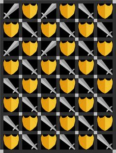 I like this pattern and layout. Perfect if done for just the right person. Quilts: Sword and Shield Paper Pieced By Richard and Tanya Quilts Paper Piecing Patterns, Quilt Patterns, Pirate Quilt, Sword, Quilts, Sewing, Pattern Ideas, Students, Layout