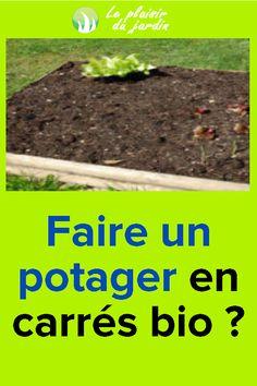 Faire un potager en carrés bio? Legume Bio, Potager Bio, Plantation, Gardens
