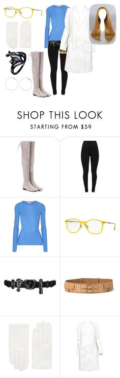 """""""Doctor jasper heart"""" by kimannosaurs ❤ liked on Polyvore featuring Stuart Weitzman, Michael Kors, Ray-Ban, Ultimate, Ralph Lauren, RED Valentino and Maison Margiela"""