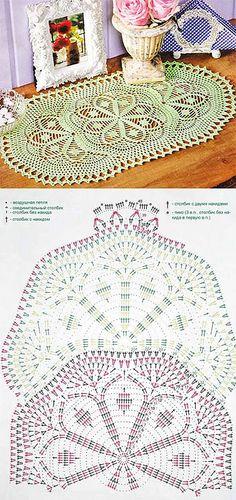 Волшебные палочки-вязание и вышивка - Статьи: Нежно-зеленая овальная салфетка