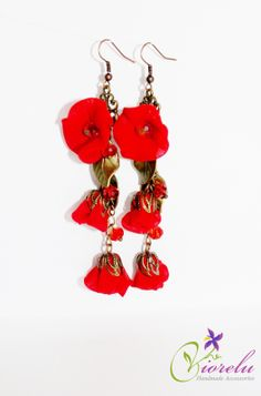 Handmade textile earrings