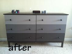diy ombre dressers - Google Search