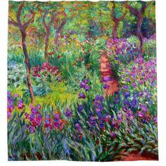 Iris Garden Claude Monet Fine Art Shower Curtain