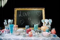 DIY candy buffet / bar wedding in navy White and rose - www. Candy Bar Wedding, Candy Buffet, Wedding Inspiration, Wedding Ideas, Love Is Sweet, Navy And White, Dream Wedding, Birthday Cake, Fest