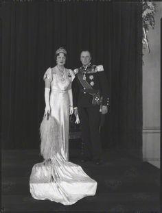 Crown Prince Olav (future King Olav V of Norway) and Crown Princess Martha of Norway, née Princess Martha of Sweden