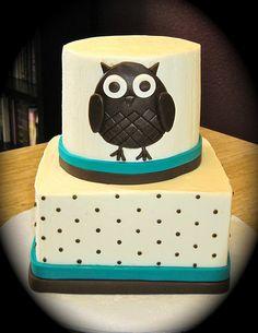Owl Birthday Cake Ckes Pinterest Owl cakes Owl