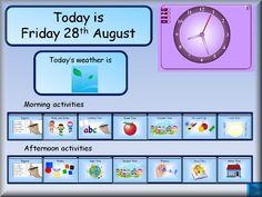 Daily calendar etc. IWB resources