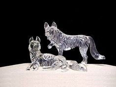 wolf wedding cakes | blown glass Wolf wedding cake top figurines. This wolves wedding cake ...