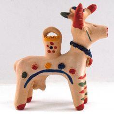 'Cow with bird and bucket'. Cow, Dinosaur Stuffed Animal, Ceramics, Bird, Animals, Traditional, Ceramica, Pottery, Animales