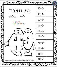 Aprendemos la familia de los números (4) - Imagenes Educativas Spanish Lessons, Math Lessons, Grade 1, Back To School, Kindergarten, Homeschool, Teaching, Peppa Pig, Free Stuff