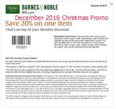 Barnes and Noble coupons december