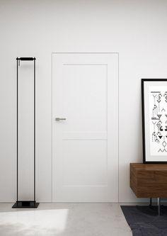 Białe drzwi malowane - naturalna biel i odcienie beżu