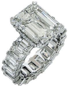 Platinum 14.96 Carat Diamond Engagement Ring Size 6