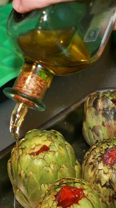 Sabor en cristal: Alcachofas al Horno Nut Recipes, Vegetarian Recipes, Cooking Recipes, Healthy Recipes, Artichoke Recipes, Eggplant Recipes, Canapes, Mediterranean Recipes, Tapas
