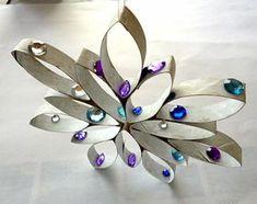 Stern aus Küchenpapierrolle und Perlen - Weihnachten-basteln - Meine Enkel und ich - Made with schwedesign.de