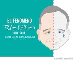 El Fenómeno Robin Williams #Ilustración #GraphicDesign #DiseñoGrafico #illustration
