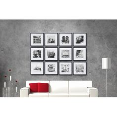 Pinnacle Gallery Perfect 8 in. x 8 in. White Collage Picture Frame Set - The Home Depot Gallery Frame Set, Picture Frame Sets, Collage Picture Frames, Art Gallery, Gallery Walls, Hanging Frames, Frames On Wall, Collage Mural, Collage Ideas