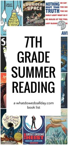 Good books for 7th grade. Nice, diverse choices with lots of variety.
