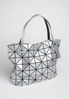 5a5373453e Bao Bao Issey Miyake Geometric Expandable Folding Tote in Silver