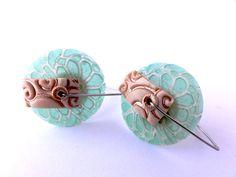 Disk earrings- celadon