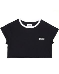 DEAD Studios Box Logo Boyfriend Crop Tee.  The Box Logo Boyfriend Crop Tee is a workout essential.   Wear with the 2.0 Sports running shorts (shown here), or the full leg compression tights.
