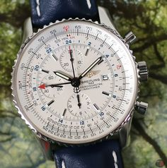 Breitling Navitimer World Stainless Steel Silver Dial Breitling Navitimer, Breitling Watches, Vintage Diamond, Watch Brands, Nyc, Stainless Steel, Pilot, Aviation