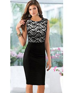MG Women's Vintage/Sexy/Beach/Party/Work Sleeveless Dresses ... – USD $ 12.99