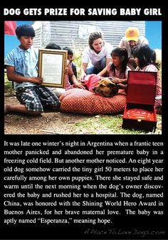 This is a heart warming story!