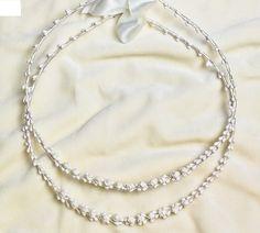 Greek Wedding Traditions, Handmade Wedding, Pearl Necklace, Pearls, Bridal, Diamond, Silver, Wedding Crowns, Jewelry